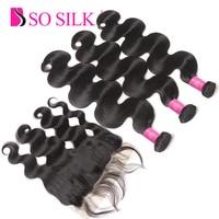 Remy Brazilian Hair Weave Bundles 3 Bundles With Frontal Body Wave Mink Brazilian Virgin Human Hair