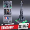 Creador LEPIN 17002 Nueva Calle de La Ciudad de La Torre Eiffel Modelo Montaje de Construcción de Ladrillo Juguetes Educativos Compatible 10181
