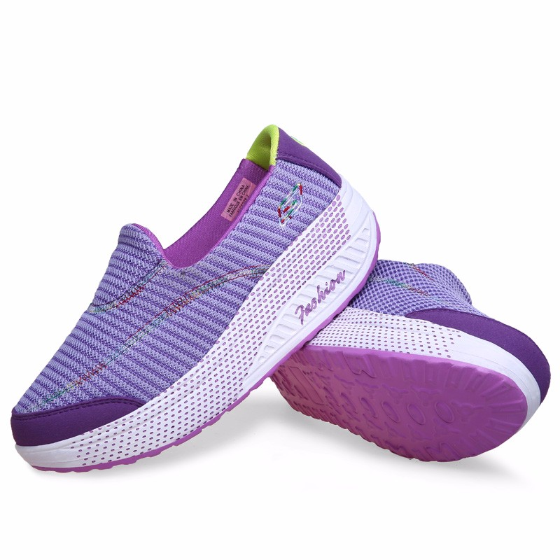 KUYUPP 2016 Autumn Platform Wedges Women Casual Shoes zapatos mujer Sport Breathable Low Top Trainers Flat Platform Shoes YD110 (25)