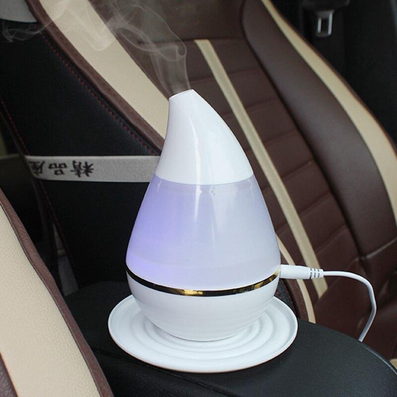 100Ml Water Drop Car Air Purifier Mini Air Humidifier Portable Car Aromatherapy Essential Oil Diffuser Mist Maker Fogger