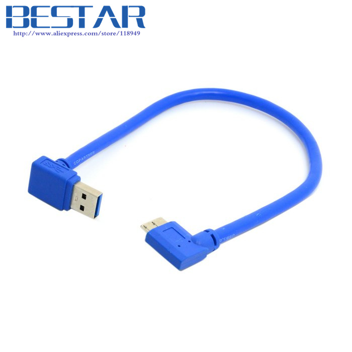 Down Direction Angled 90 Degree USB 3.0 A plug to Micro B Plug Right Angled Cable 20cm techlink wiresnx2 right angled hdmi a plug to hdmi a plug 3m 710493