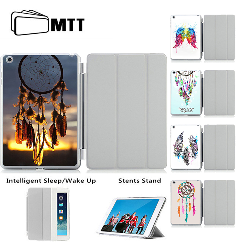 Colorful Printing Dream catcher Feather Case For Apple iPad 5 6 Stand Tablet Leather Dreamcatcher Cover For Air 1 2 Cover Shell