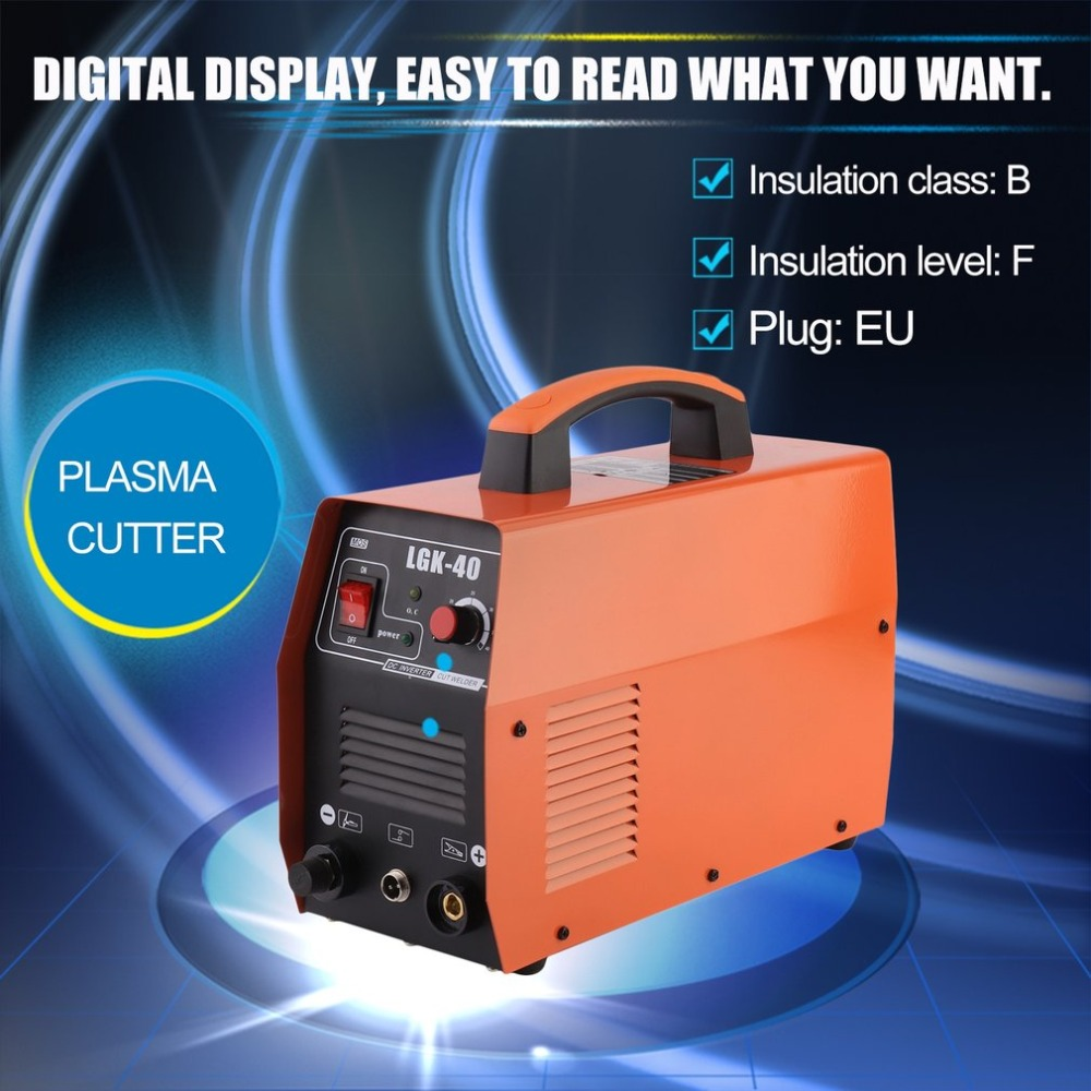 (Ship from DE)Durable LGK-40 Plasma Cutter With Welding Accessories Professional Single-Phase Plasma Cutting Machine EU Plug ship from germany portable dc inverter plasma cutter with pressure gauge waterproof 5 5kva 220v