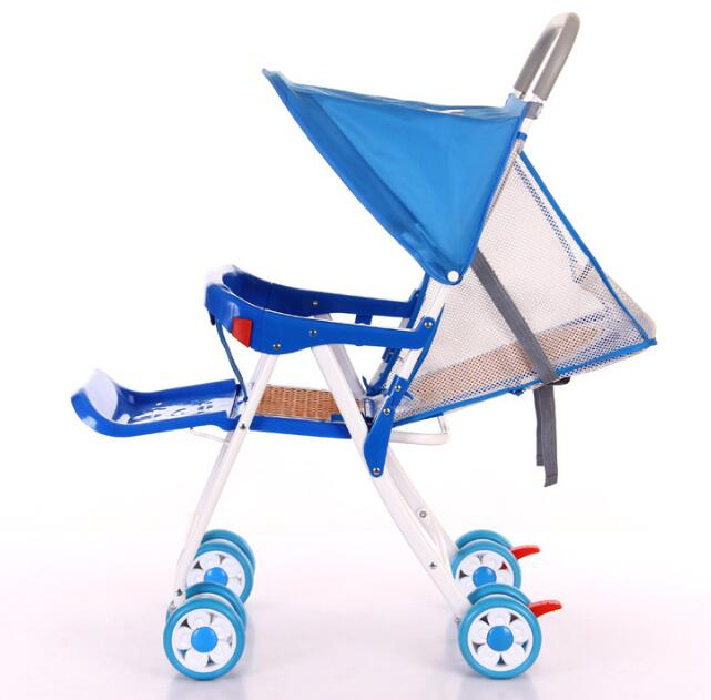 2017 vente chaude Cool été bébé chariot parapluie voiture enfants Ultra-léger pliant peut se coucher chariot - 2