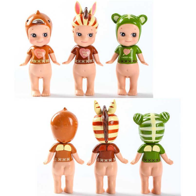 8 CM Sonny Anjo Kewpie Edição Limitada do Animal do Kawaii Figura de Ação Boneca Gado Tigre Caçoa o Presente Brinquedos Do Cão Da Zebra 1 PCS