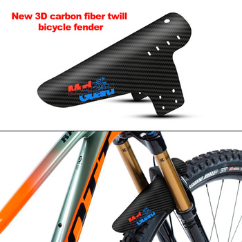 Nuevos accesorios de bicicleta de montaña guardabarros 3D fibra de carbono sarga Ciclismo Mtb guardabarros trasero alas de protección de lodo para artículos de bicicleta de carretera