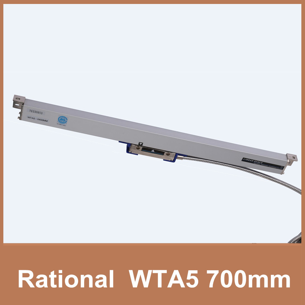 Spedizione Gratuita Razionale e WTA5 5um scala di vetro lineare 700mm TTL 5 V 0.005mm scala lineare encoder per CNC mill