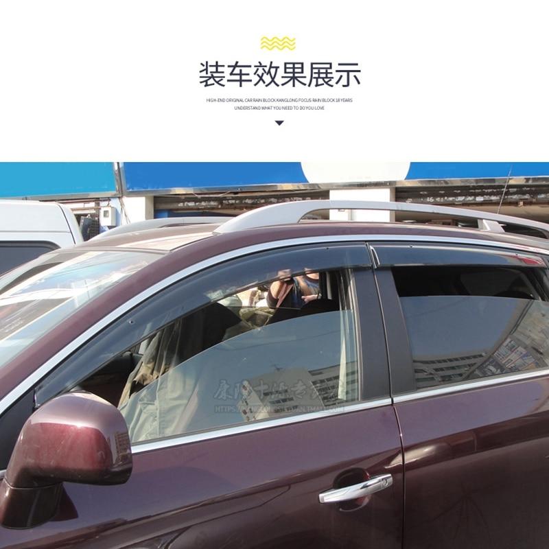 For opel Antara Car Window Visor Wind Deflector Rain Sun Visor Shield Cover ABS Awnings Shelters