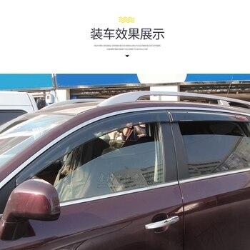 For opel Antara Car Window Visor Wind Deflector Rain Sun Visor Shield Cover ABS Awnings Shelters cover Car Accessory 2008-2013