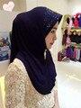 TJ33 Новый стиль Блесток Мусульманское hijab Свет борту женщин шарф дамы шарфы классический comfot cshawls sciarpa (НЕТ брошь)