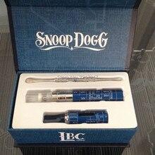 50pcs/lot Snoop dogg Dry herb vaporizer electronic cigarette kits Wax Snoop Dogg starter Kits Single Snoop Dogg kit USB Charger