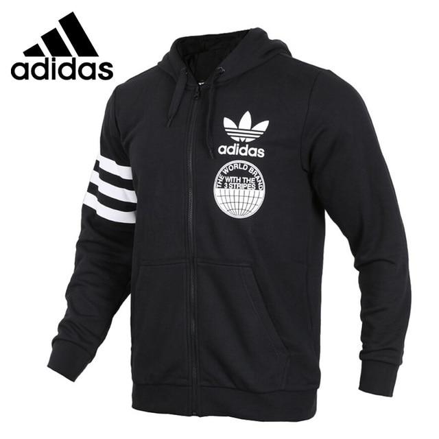 Оригинальный Новое поступление Официальный Adidas FULLZIP Толстовка Для  мужчин Удобные куртки с капюшоном Спортивная хорошее качество dbbbdbaec8b