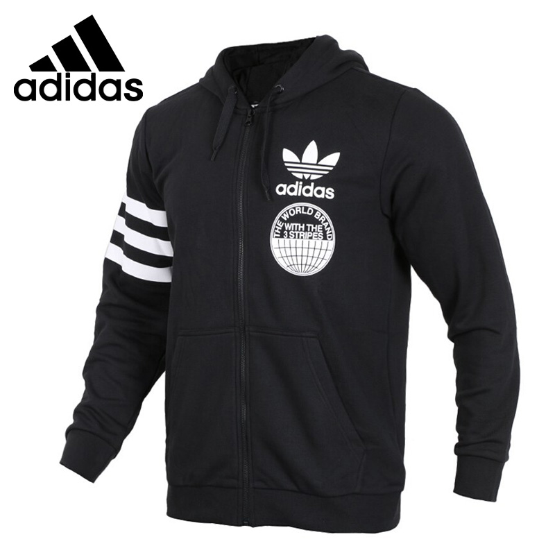 Original New Arrival Official Adidas FULLZIP HOODIE Men's Comfortable Jacket Hooded Sportswear Good Quality CZ1751/CZ1752 купить в Москве 2019