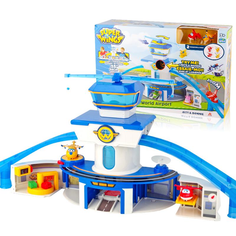 Newest Super Wings World Airport Control Base with Sound Action Figures Transformation Toys children Christmas Gifts