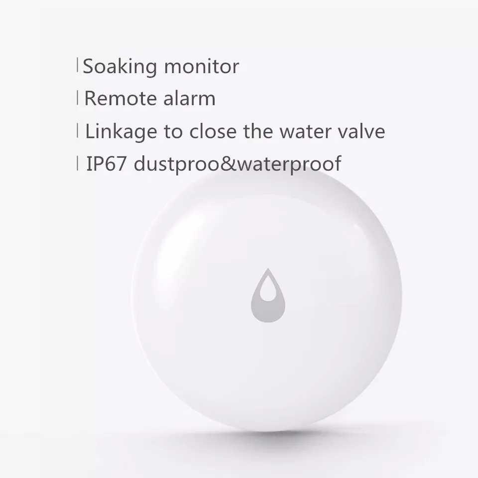 100% オリジナル Xiaomi Mijia Aqara 水浸漬センサー洪水漏水検出器のリモート警報セキュリティ浸漬センサー