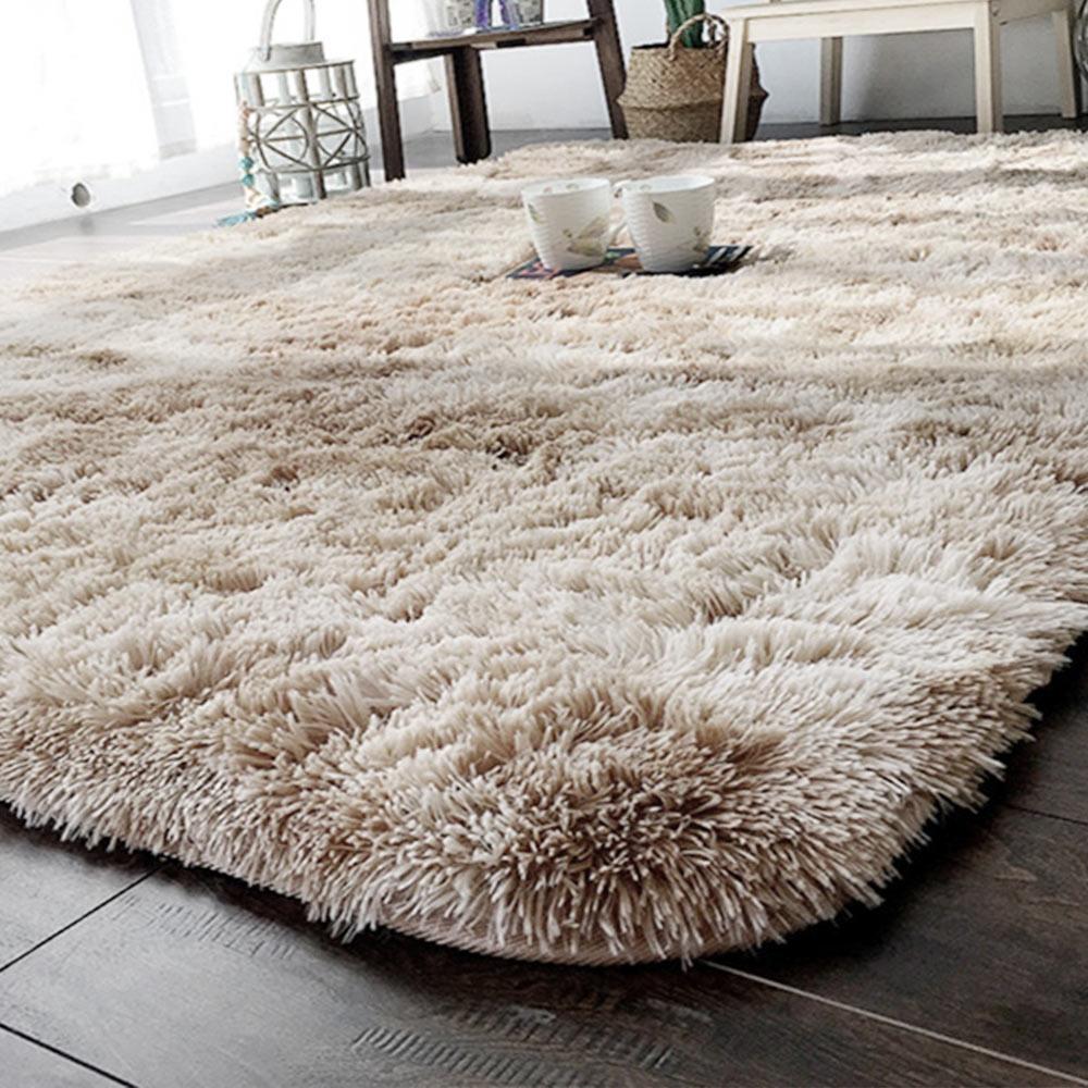Tapis de canapé tapis moelleux multicolore 160x200cm tapis chambre plancher chaud salon décoration de la maison Tie-teint Polyester Fiber