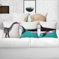 2017 Europe And The United States 45x45cm Mediterranean Animal Shark Linen Cushion Cover Pillow Case Cover
