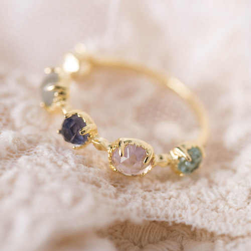 Exquisite  Japanese natural ruby ring bijoux Amethyst Labradorite Topaz  gemstone rings natural peridot silver ring  925 anillo