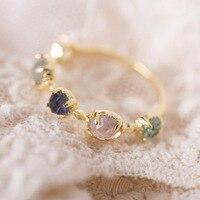 Exquisite Japanese natural ruby ring bijoux Amethyst Labradorite Topaz gemstone rings natural peridot silver ring 925 anillo