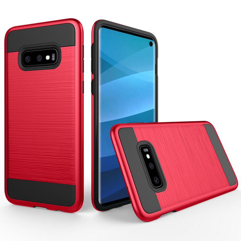 100pcs lot For Samsung Galaxy S10 S10 Plus Brushed Slim Stripe Wire Drawing Shockproof Hard Case