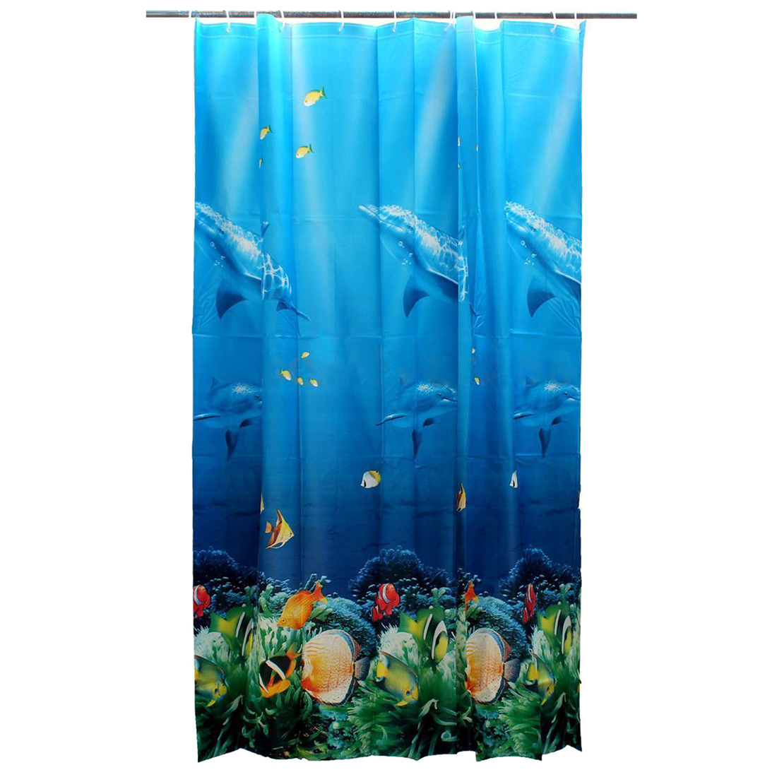 Clear fish shower curtain - Szs Hot 180x180cm Tropical Beach Sea Dolphin Fish Ocean Color Shower Curtain With Hooks