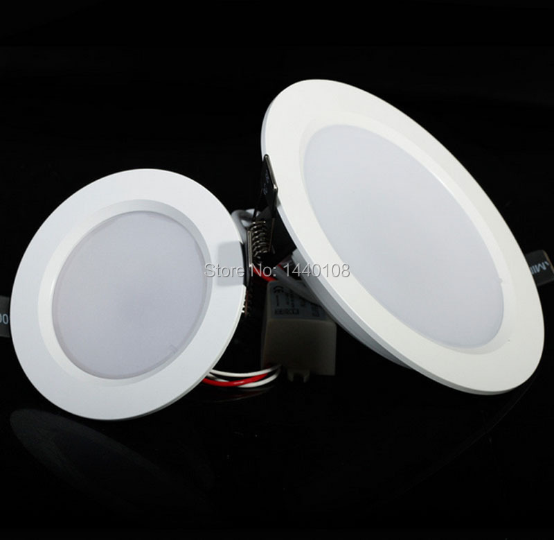 2015 Cheapest 5w 6w 9w 12w RGB LED Ceiling Round Panel Light 24 Keys Downlight With Remote Control AC85 110 265V Bulb Lamp