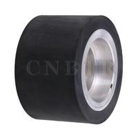 CNBTR 80mm Aluminum Wheel Core Bearing Belt Grinder Rubber Wheel Flat Surface