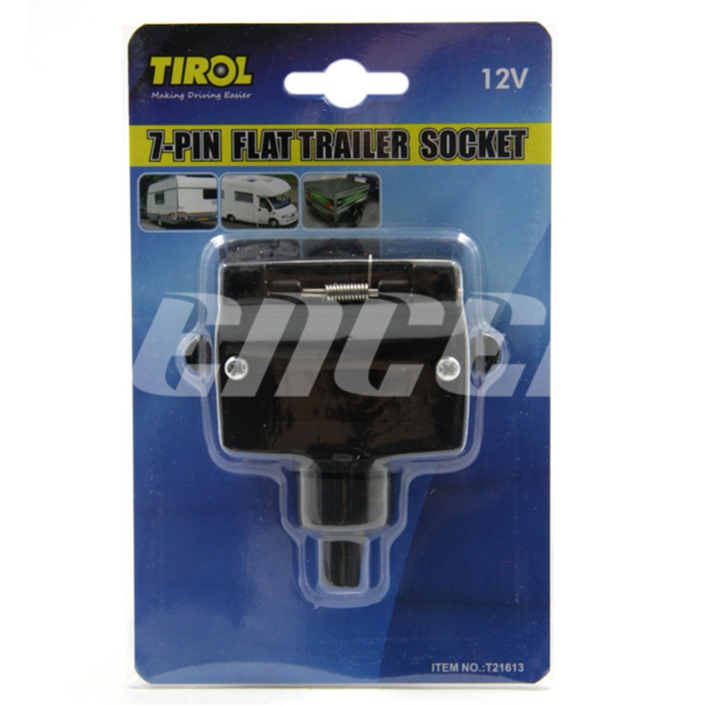 Encell Australia 7 Pin Flat Trailer Socket Adapter Plug Wiring A Hardware Connector Car Styling Accessories Rv Parts Light In Towing Bars From