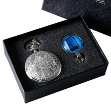 Gift Doctor Who Necklace Pendant Silver Steampunk Vintage Retro Quartz Pocket Watch Set with Box