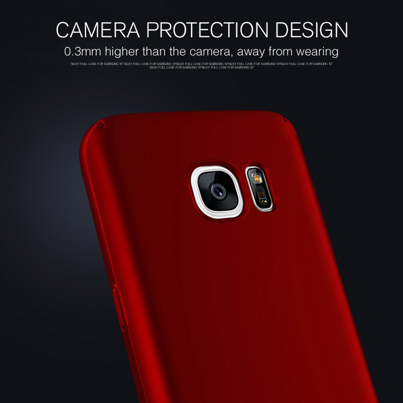 GULYNN Anti-fingerprint Case Cover For Samsung S7 S6 S8 Edge Back Cover Plating Plastic Phone Cases For Samsung Galaxy S8 Plus