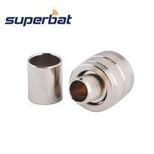 Superbat 10 pcs RF Connector UHF Crimp Plug Male for RG8, RG213,RG214,LMR400 Cable