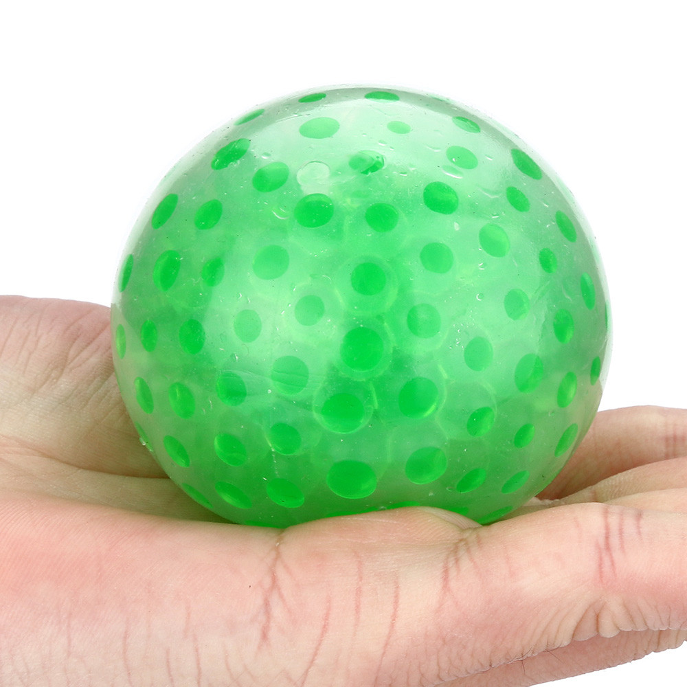 2018 Hot Sale Spongy Bead Stress Ball Toy Squeezable Stress Squishy Toy Stress Relief Ball anti ...