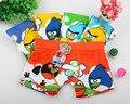 5 peças novidade cozy bonito shorts de algodão menino Briefspants Angry birds novo Boxer das Crianças Calças Do Bebê Dos Desenhos Animados do bebê meninos
