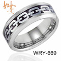 Free Shipping Silver Chain Tungsten Carbide Ring Classic Design Fashion Finger ring  8mm Width Size 6-13