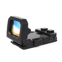 Robin Hunting Mini Foldable Red Dot Sight Collimator Glock Rifle Reflex Sight Scope Fit 20mm Weaver Rail For Outdoor Hunting