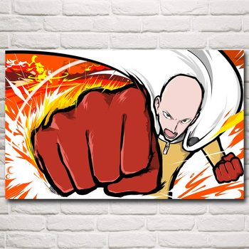 FOOCAME Japanese Anime ONE PUNCH MAN Art Silk Posters and Prints Painting Home Decor Wall Pictures For Living Room 32x48 Inches