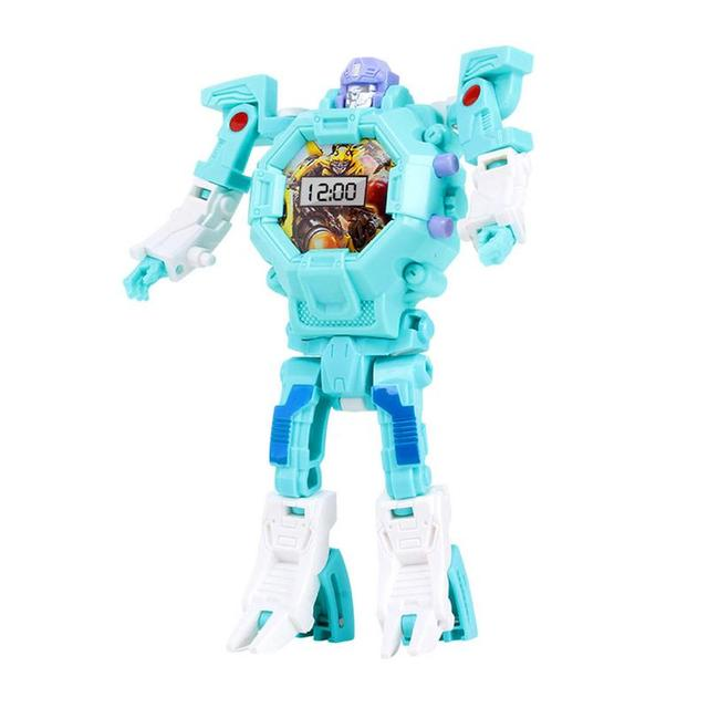 Children's Creative Deformable Watch Transformers Toys Electronic Display Robot Watch Educational ToysLearning & Education