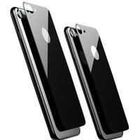 Protector de pantalla de vidrio templado trasero para iPhone, Protector de pantalla 9H 2.5D para iPhone 7 8 Plus 8 Plus X XS XR 11 Pro MAX, cubierta completa, negro y blanco