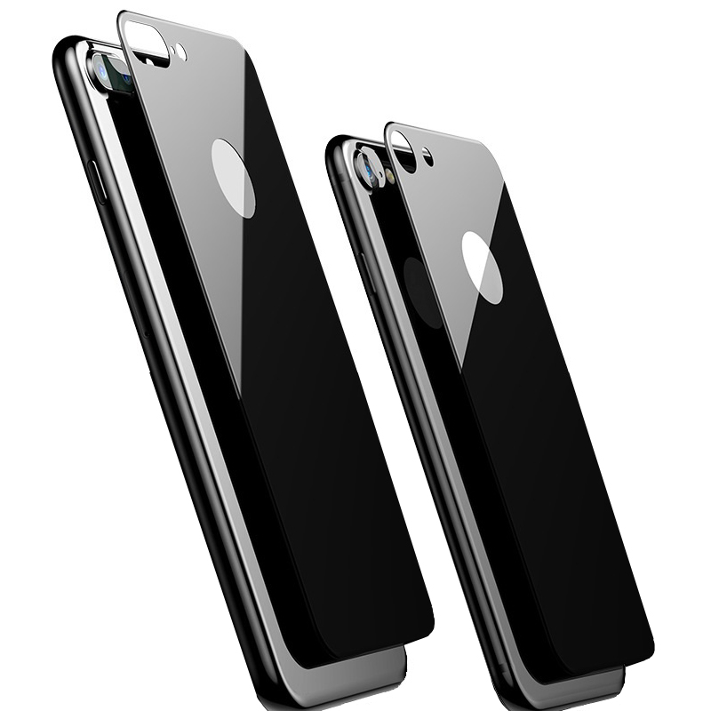 YKSPACE 9H 2.5D HD Rear Back Tempered Glass Screen Protector Film For IPhone 7 8 Plus 7Plus 8Plus Full Cover Black White