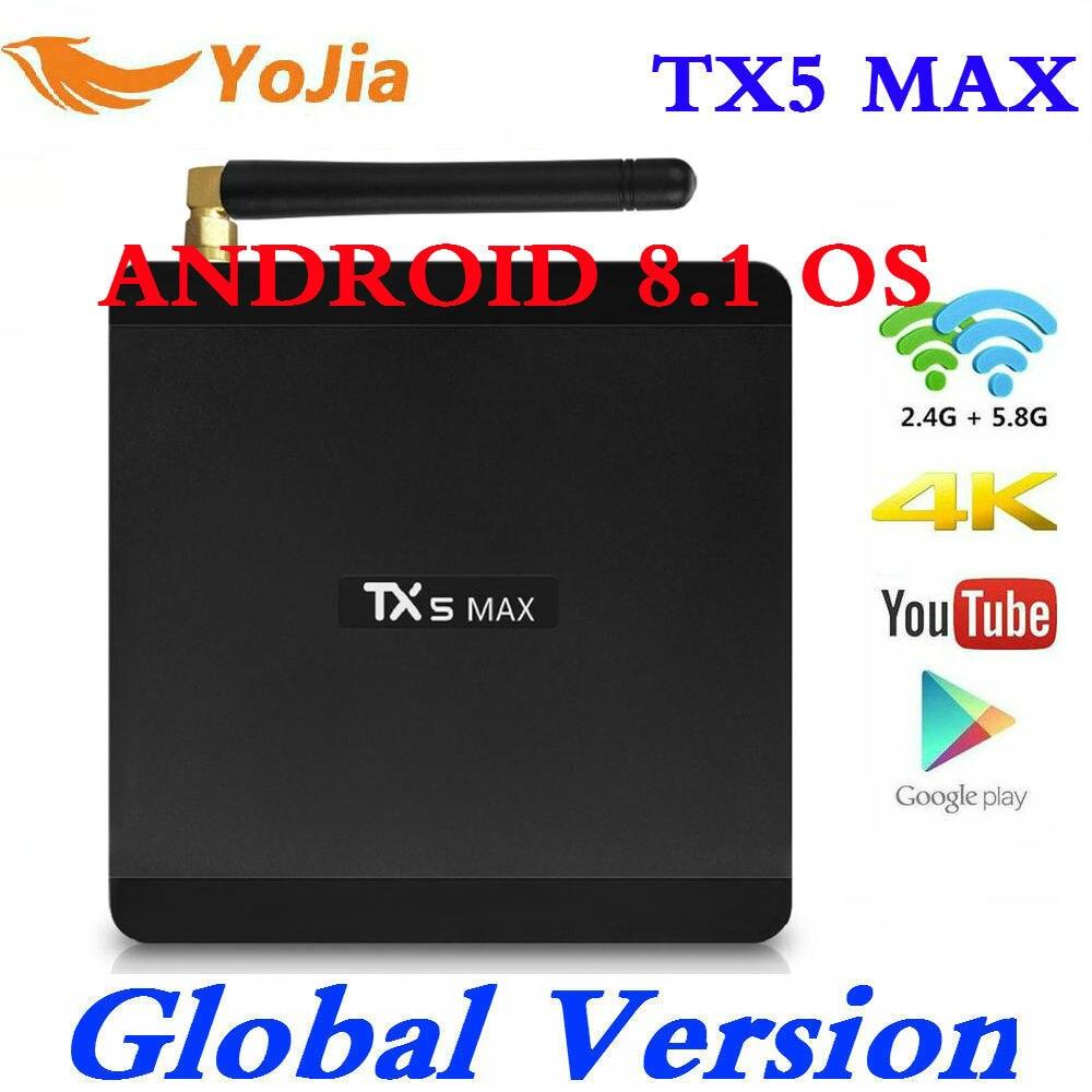 4GB RAM 32GB ROM Smart TV BOX Android 8.1 Tanix TX5 MAX Amlogic S905X2 4K Media Player DDR3 Quad Core 1000M 2.4G&5G Dual Wifi4GB RAM 32GB ROM Smart TV BOX Android 8.1 Tanix TX5 MAX Amlogic S905X2 4K Media Player DDR3 Quad Core 1000M 2.4G&5G Dual Wifi
