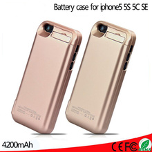 4200mAh External Battery Backup Charger Case Pack Power Bank Case Cover Charging For iPhone 5 5s 5c SE