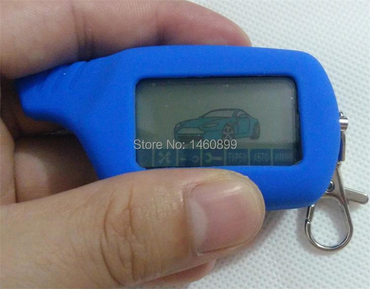 Freeshipping A91 LCD Touche De La Télécommande Fob Chaîne + Silicone cas Pour la Version Russe 2 Voies Système D'alarme de Voiture Starline A91