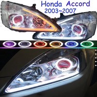 2pcs car styling For hid xenon Head Lamp For Accord Headlight Spirior 7th fit 2003 2004 2005 2006 2007year With Head Light