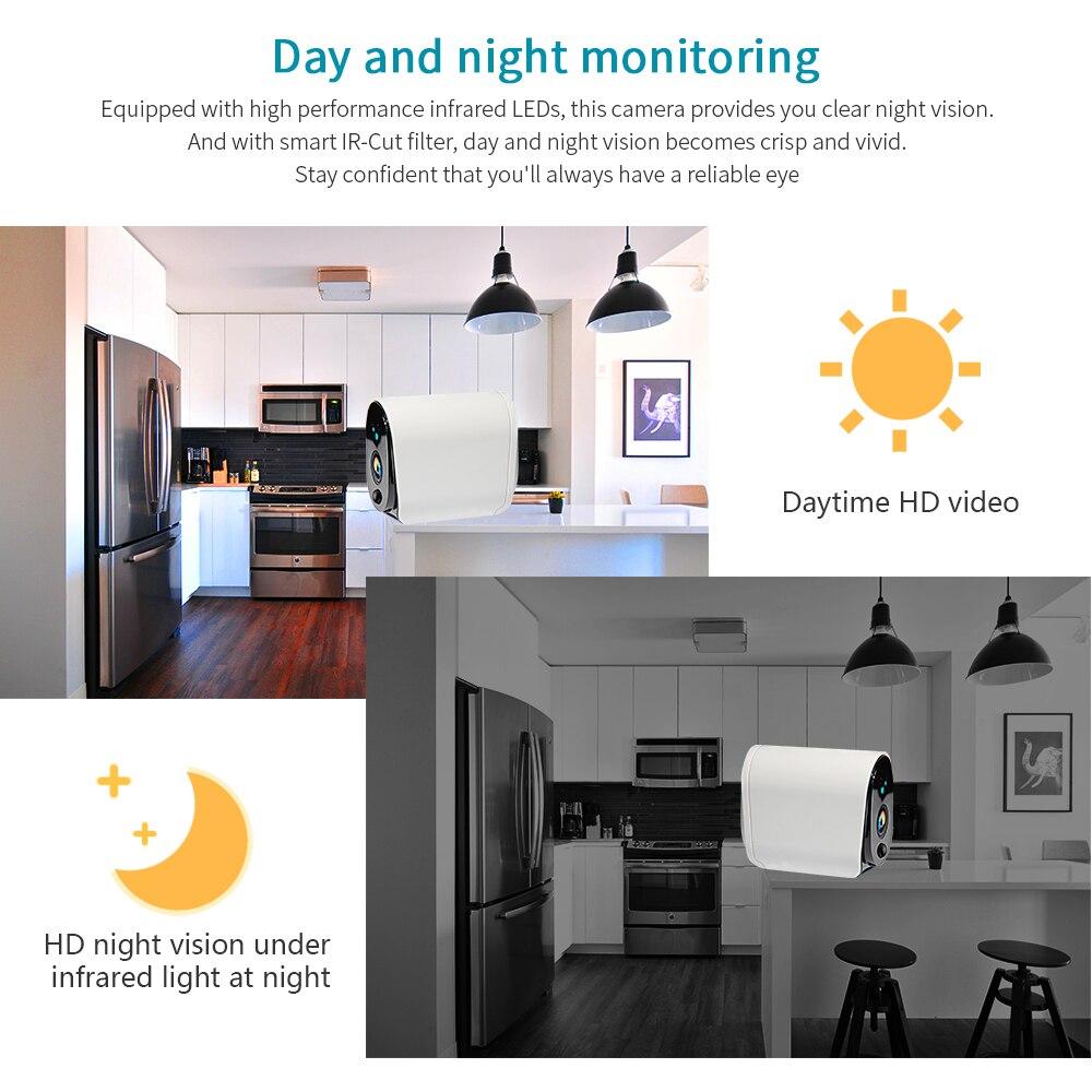 INQMEGA 100% bezprzewodowa zewnętrzna kamera IP 1080P bezprzewodowa kamera przemysłowa bezpieczeństwo w domu IP65 wodoodporna bateria WiFi kamera IP