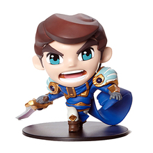 LOL Cosplay Might of Demacia Garen 10cm/3.9'' Q Version HI-Q PVC GK Garage Kit Action Figures Toys Model