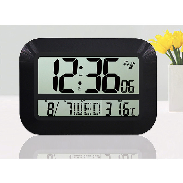 Buy large display lcd led digital wall Digital led wall clock