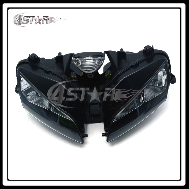 ФОТО Motorcycle Headlights Headlamps Head Lights LED Lamps Assembly For CBR CBR600RR CBR600 F5 2003 2004 2005 2006 Supermoto
