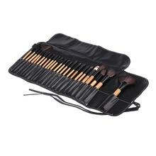 24PCS/SET Professional Makeup Brushes Eyeshadow Powder Brush Set Cosmetic Tool With Leather Case new