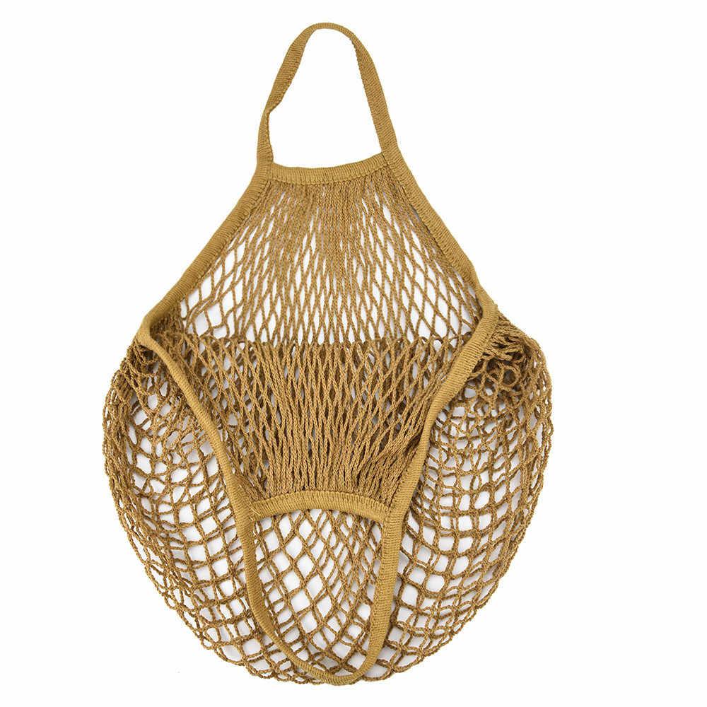 2019 nova malha net turtle saco de compras string saco de armazenamento de frutas reutilizáveis bolsa totes saco de malha de compras