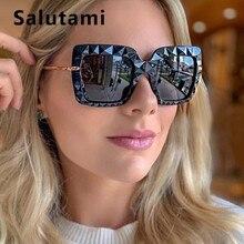 Irregular Black Square 3D Sunglasses Women Luxury Brand Vintage Oversize Big Sun Glasses Men Uv400 Goggle Alloy Shades 2019